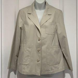L.L BEAN 100% Cotton Lightweight Jacket Sz/12P EUC